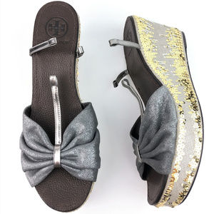 Tory Burch Declan 2 Sequin Wedges Sandals